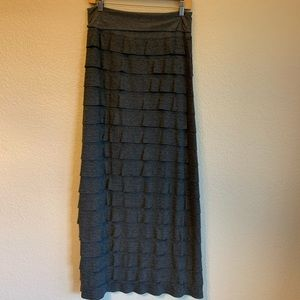 Max Studio Specialty Products Ruffle Maxi Skirt L